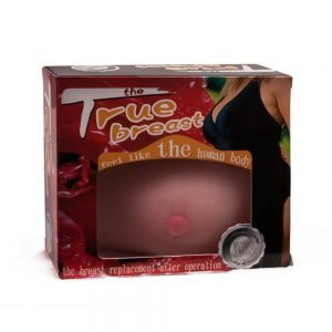 The true breast 1pc. TPR Material. Flesh. 5.3x13.5 cm