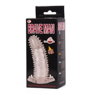 Brave Man Penis sleeve. TPR material. 14x4.2